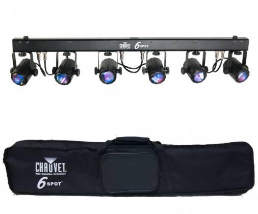 Chauvet DJ 6SPOT LED spot light bar with 6 3W Tri colour LEDs Product Image 6