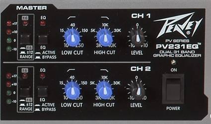 Peavey 03615360 PV 231EQ Dual 31 Band Equalizer Product Image 5