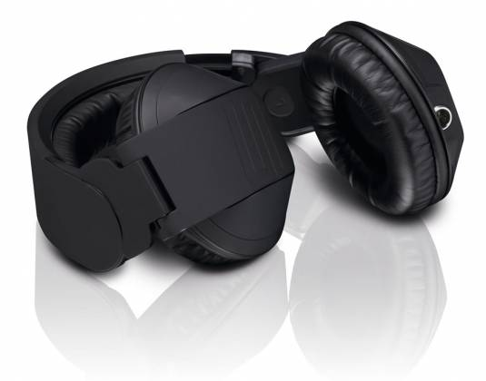 Reloop RHP-20-K Professional DJ Headphones with Rubber Paint Finish Knight Black rhp-20-k Product Image 4