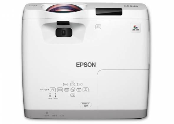 Epson V11H673020 PowerLite 530 XGA 3LCD 3200 Lumens Short Throw Projector Product Image 5