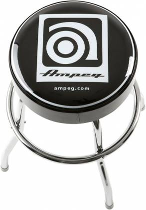 Ampeg Studio Stool 24 Inch Metal Stool with Ampeg Logo on Cushioned Seat Product Image 2