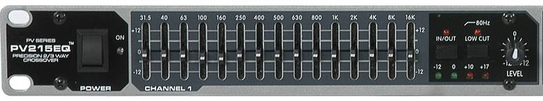 Peavey 03615350 PV 215EQ Dual Band Graphic Equalizer Product Image 6