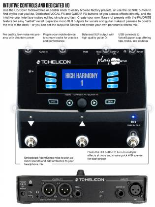 TC Helicon Play Acoustic Effects Processor Product Image 6