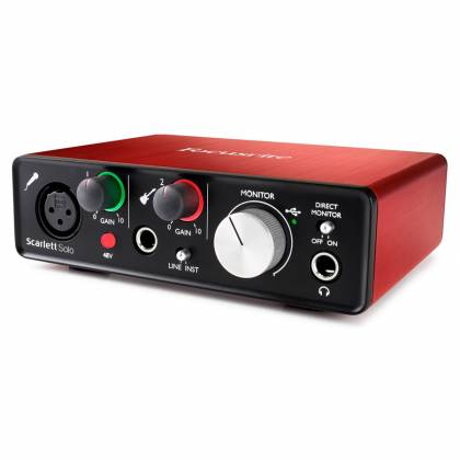 Focusrite Scarlett Solo MK2 Next Generation Compact Durable USB Audio Interface Product Image 5