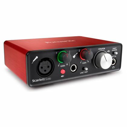 Focusrite Scarlett Solo MK2 Next Generation Compact Durable USB Audio Interface Product Image 8