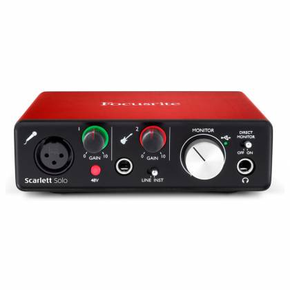Focusrite Scarlett Solo MK2 Next Generation Compact Durable USB Audio Interface Product Image 4