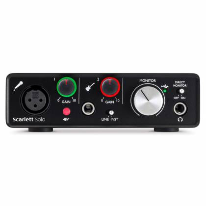 Focusrite Scarlett Solo MK2 Next Generation Compact Durable USB Audio Interface Product Image 3