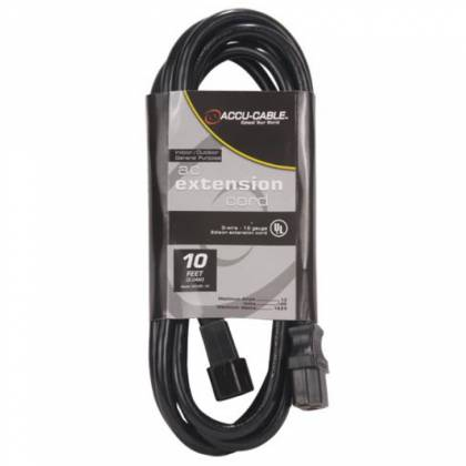 American DJ ECCOM-10 Black 10 Food AC Extension Cord Product Image 2