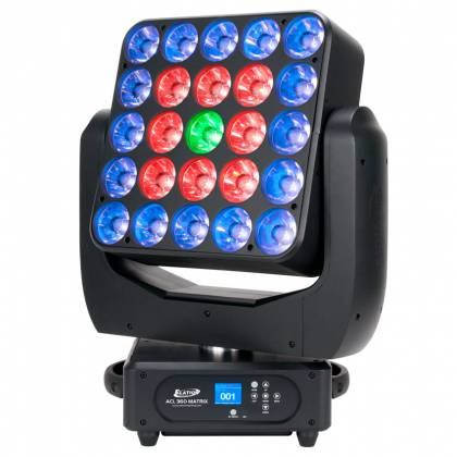Elation Professional ACL360 MATRIX 25x15W RGBW LED Moving Head Light Product Image 2