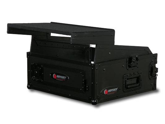 Odyssey FRGS802BL Black Label Flight Ready Glide Style 8 Space x 2 Space Combo Rack Product Image 3