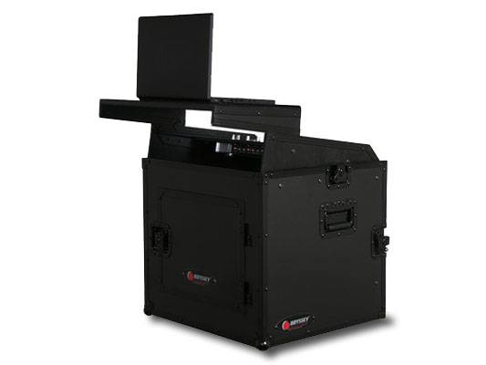 Odyssey FRGS808BL Black Label Flight Ready Glide Style 8 Space x 8 Space Combo Rack Case Product Image 3