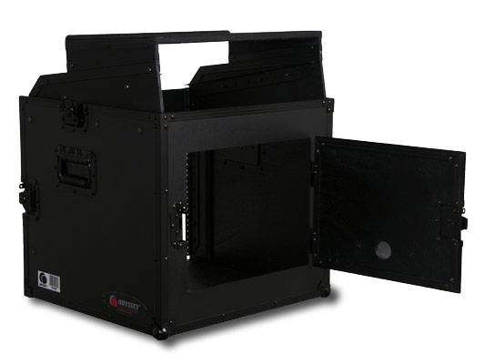 Odyssey FRGS808BL Black Label Flight Ready Glide Style 8 Space x 8 Space Combo Rack Case Product Image 4