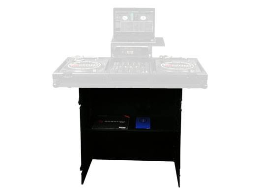 """Odyssey FZF3336BL Black Label Fold-Out Stand 33"""" Wide x 36"""" High with Shelf Product Image 3"""