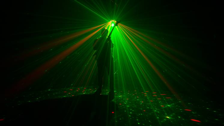 Chauvet DJ Swarm Wash FX Multi Effects Light with Derby, RGB+UV Wash, Laser, and Strobe Lights (clearance - open box - mint condition)) Product Image 4