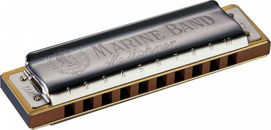 Hohner 1896BX-M-BF Marine Band 1896 Classic Harmonica in M-BF Product Image 2