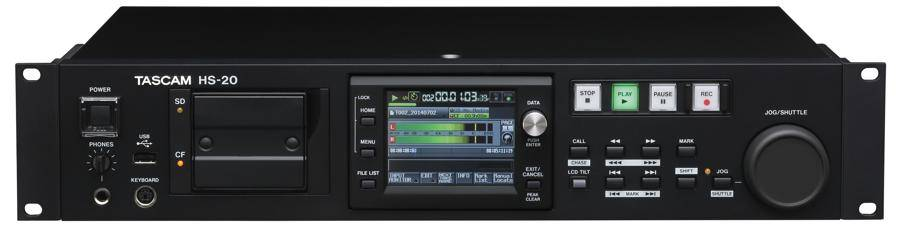 TASCAM HS-20 2 Channel Solid State Digital Network Recorder/Player Product Image 2