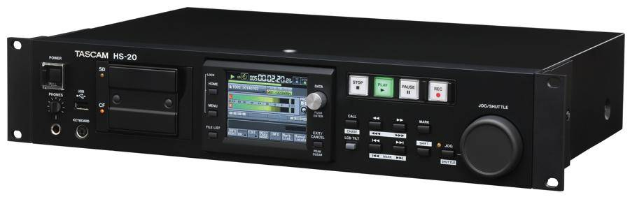 TASCAM HS-20 2 Channel Solid State Digital Network Recorder/Player Product Image 3