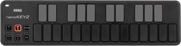 Korg DJ NANOKEY2-BK Black 25-key USB MIDI Keyboard Controller Product Image 2
