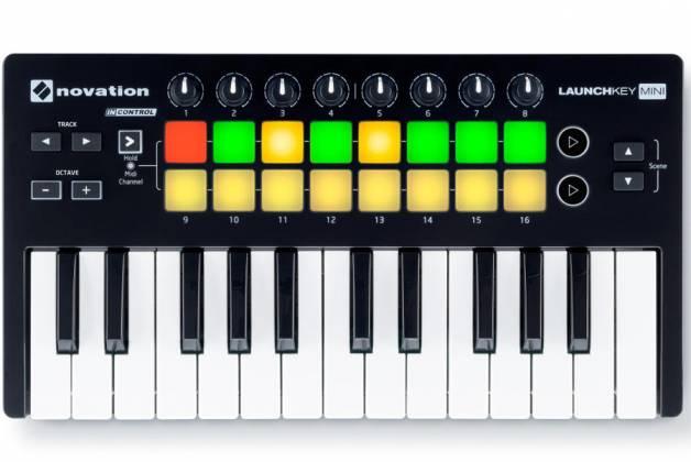 Novation Launchkey Mini MK2 Portable and Compact Mini MIDI Keyboard Controller Product Image 2