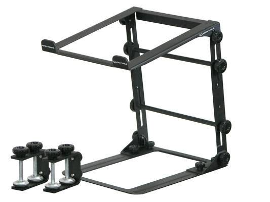 Odyssey LSTANDM Mobile Folding Laptop/Gear Stand with Table/Case Clamps in Black Product Image 2
