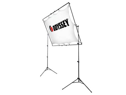 Odyssey LTMVSS1RT Mobile VSS-1RT Raise and Tilt Video Projection Screen System Includes Tripod Frame and Screen Product Image 3