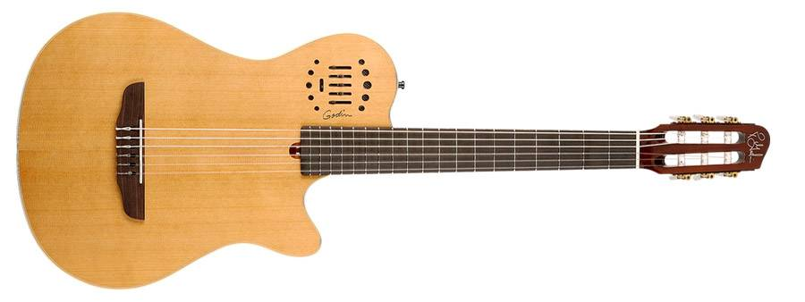 Godin 031498 Multiac Grand Concert Duet Ambiance Natural HG 6 string Acoustic Electric Guitar with bag Product Image 3