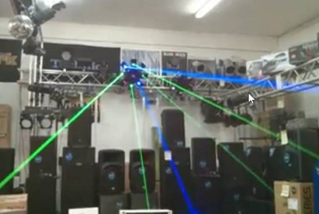 Microh DJ OCTOPUS RGB Laser - Green Blue and Red GIANT BEAMS (Discontinued Clearance Demo 9.5 condition)) Product Image 5