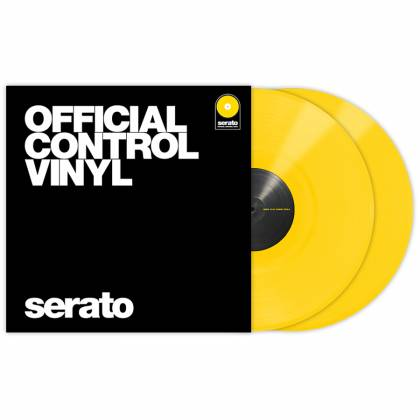 Serato SCVPS-YLW OV Pair of 12 Inch Control Vinyls in Yellow Product Image 2