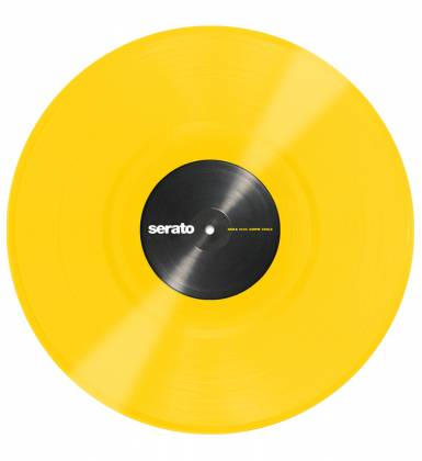 Serato SCVPS-YLW OV Pair of 12 Inch Control Vinyls in Yellow Product Image 3