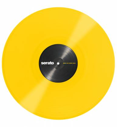Serato SCVPS-YLW OV Pair of 12 Inch Control Vinyls in Yellow Product Image 4