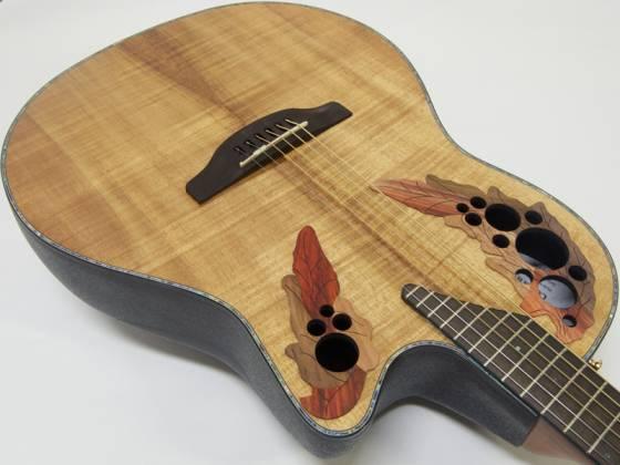 Ovation CE44P-FKOA Celebrity Elite Plus 6 String RH Acoustic Electric Guitar- Figured Koa ce-44-p-fkoa Product Image 5