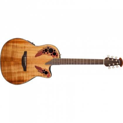 Ovation CE44P-FKOA Celebrity Elite Plus 6 String RH Acoustic Electric Guitar- Figured Koa ce-44-p-fkoa Product Image 6