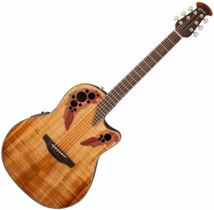 Ovation CE44P-FKOA Celebrity Elite Plus 6 String RH Acoustic Electric Guitar- Figured Koa ce-44-p-fkoa Product Image 2