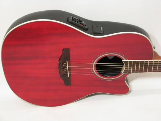 Ovation CS24-RR Celebrity Standard Mid-Depth Cutaway 6 String RH Acoustic Electric Guitar - Ruby Red cs-24-rr Product Image 3