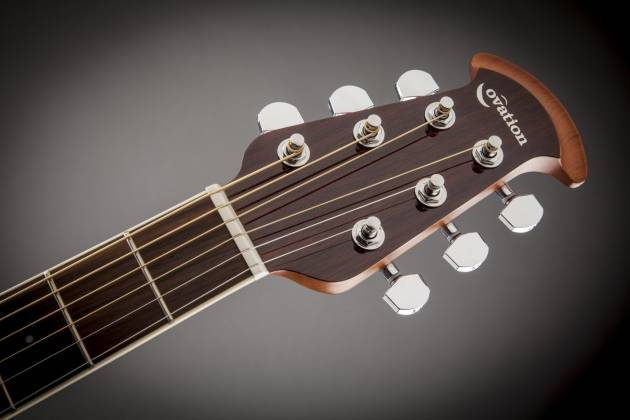 Ovation CS24-RR Celebrity Standard Mid-Depth Cutaway 6 String RH Acoustic Electric Guitar - Ruby Red cs-24-rr Product Image 6
