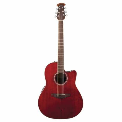 Ovation CS24-RR Celebrity Standard Mid-Depth Cutaway 6 String RH Acoustic Electric Guitar - Ruby Red cs-24-rr Product Image 8