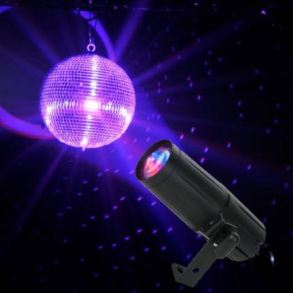American DJ PINSPOT-LED-QUAD-DMX 8W LED QUAD DMX Pinspotwith IR Remote Control & UC3  Product Image 3