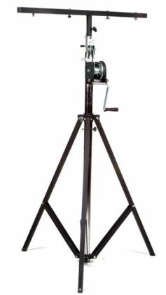 Global Truss ST-132 Medium Duty Crank Stage Light Stand with T Bar and leveling leg  Product Image 3