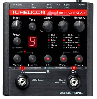 TC Helicon VoiceTone Harmony-G XT Vocal Harmony & Effects Processor Product Image 2