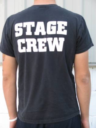 Stage Crew T Shirt 100% pure cotton - Roadcase Black or Roadie Blue Product Image 2
