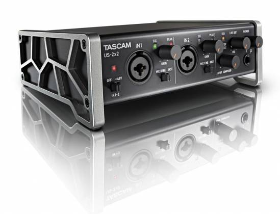 Tascam US2x2CU USB Audio/Midi Recording Interface and Mic Preamp US-2x2-CU Product Image 2