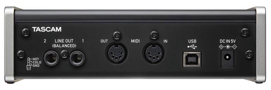 Tascam US2x2CU USB Audio/Midi Recording Interface and Mic Preamp US-2x2-CU Product Image 3