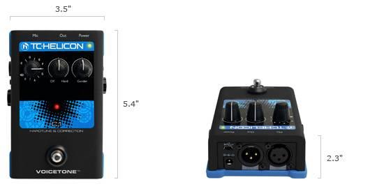 TC Helicon VoiceTone C1 Vocal Correction Pedal Product Image 8