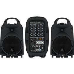 Behringer PPA500BT Europort Series Ultra-Compact 500W 6-Channel Portable PA All In One System with Bluetooth Product Image