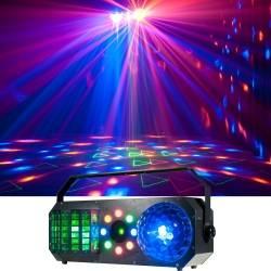 American DJ BOOM-BOX-FX1 StarTec Series 4-in-1 Dome, Derby, Wash, Laser  Effect Fixture