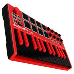 Akai MPKMINI2RED Compact Keyboard and Pad Controller in Red Product Image