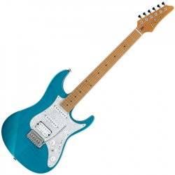 Ibanez AZ2204F-TAB Prestige 6-String Electric Guitar with Case - Transparent Aqua Blue Product Image