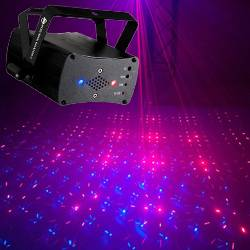 American DJ MICRO-ROYAL-GALAXIAN-II Portable Red and Blue Party Laser Effect  Product Image