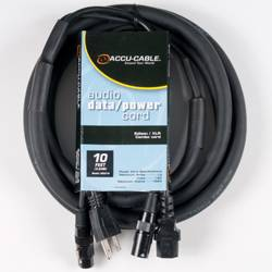 American DJ SKAC10 Audio Data and Power 10 Foot AC/XLR Combo Cable Product Image