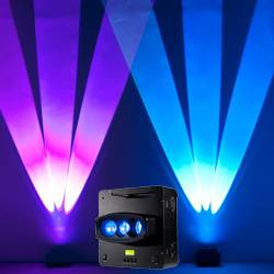 American DJ WIFLY-CHAMELEON Three Beam Uplighting LED Fixture with Pulse and Strobe Effect Product Image